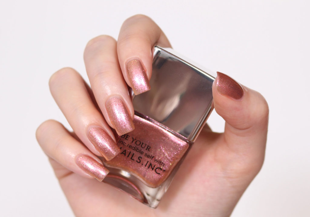 NAILS INC Nail Polish Nutty or Nice Swatch