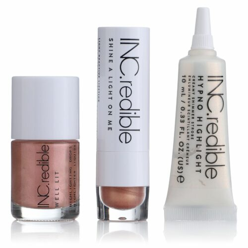 NAILS.INC® Make-Up-Set Creme Highlighter Highlighter Drops Lippenstift, 3tlg.