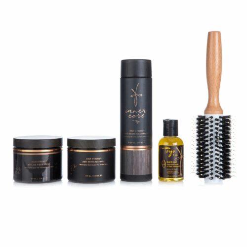 TAYA HAIRCARE Schwarze Tonerde Shampoo, Maske Stylingcreme, Öl Bürste