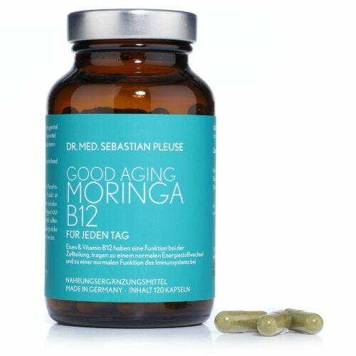Dr. med. Sebastian Pleuse Good Aging Moringa mit B12 & Eisen 120 Kapseln, 60 Tage