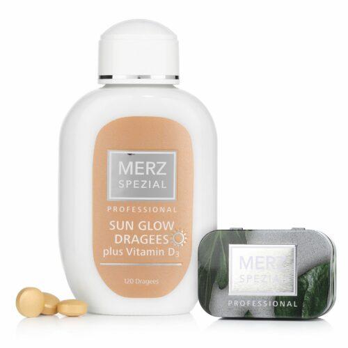 MERZ SPEZIAL Professional Sun Glow Dragees 120 Stück mit Taschendose