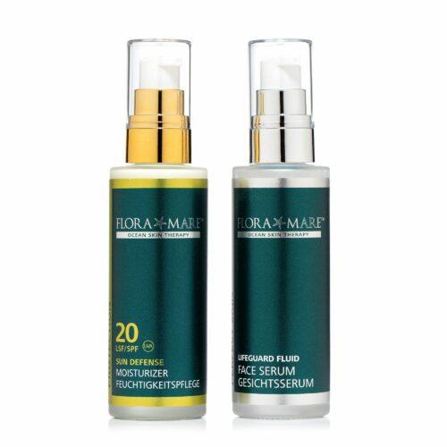 FLORA MARE™ Sun Defense Moisturizer LSF 20 50ml & Perfect Skin Lifeguard Fluid 50ml