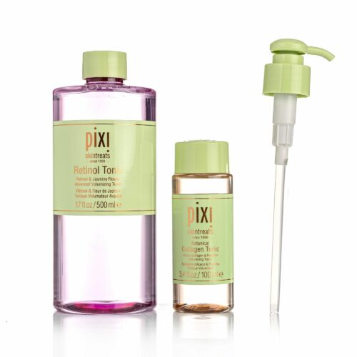 PIXI BEAUTY Retinol & Collagen Toner Duo Retinol Tonic 500ml Collagen Tonic 100ml