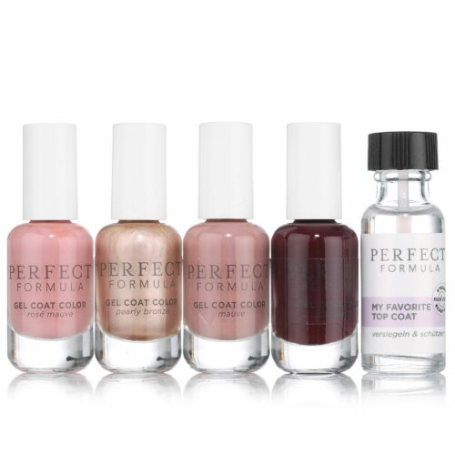 PERFECT FORMULA Gel Coat Color 4x 8ml mit Topcoat 18ml