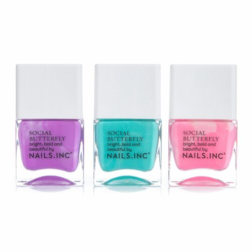 NAILS.INC® Nagellack-Set Social Butterfly in knalligen Farben 3x 14ml
