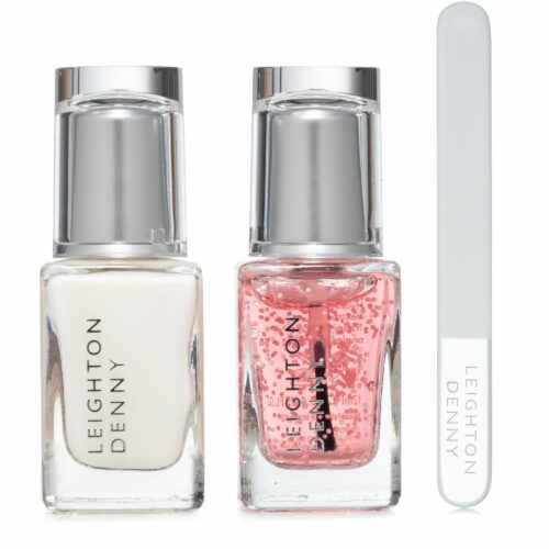 LEIGHTON DENNY Inner Strength Collection Massage-Gel, Feile & pflegender Basislack