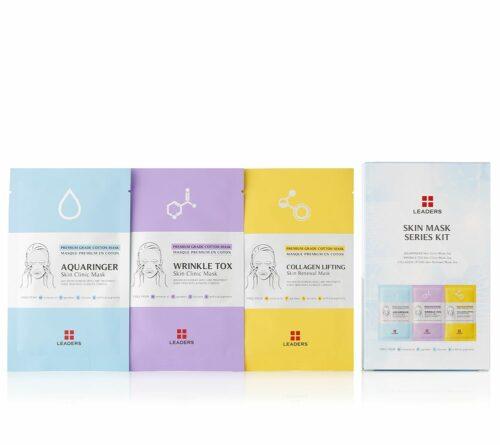 LEADERS Masken-Set Collagen, Feuchtigkeit & Anti-Wrinkle, 6tlg.