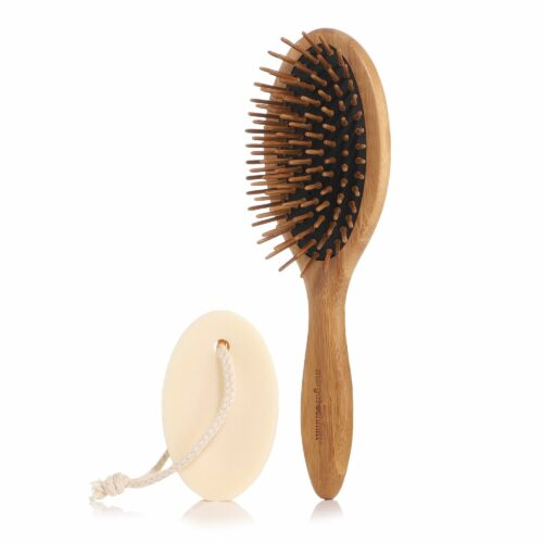 MARGOT SCHMITT® Deluxe Pure festes Shampoo 80g Pneumassagebürste aus Bambus