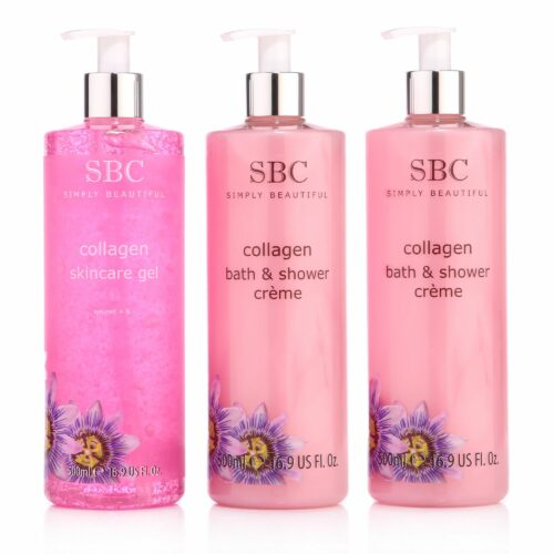 SBC Skincare Gel, Dusch- & Badecreme 3x 500ml