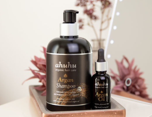 ahuhu organic hair care Argan Shampoo & Argan Oil