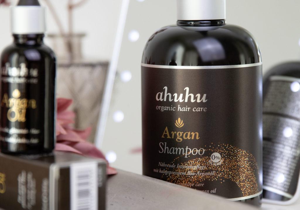 ahuhu organic hair care Argan Shampoo