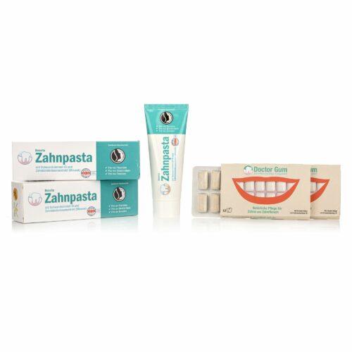 BEO VITA Zahnpflege-Set Zahnpasta 2x 75ml & Zahnfleischpflege- Kaugummi Doppelpack