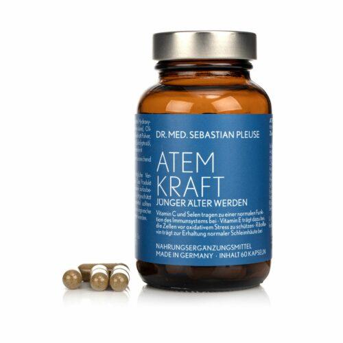 Dr. med. Sebastian Pleuse Atemkraft u.a. mit Vitamin C, E, B2 60 Kapseln, 30 Tage