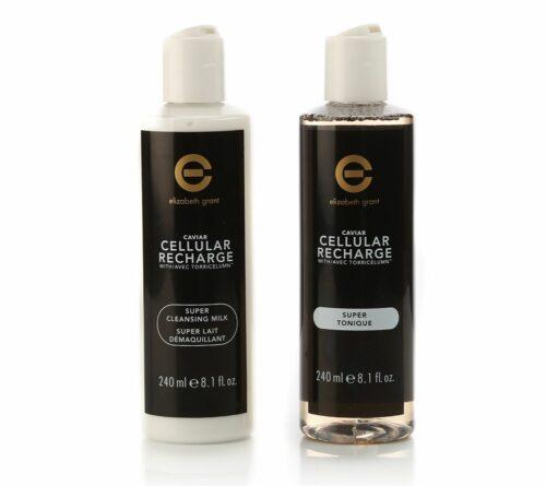 ELIZABETH GRANT Caviar Cellular Recharge Super Cleanser & Toner 2x 240ml