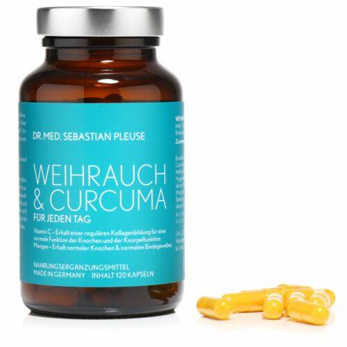 Dr. med. Sebastian Pleuse Weihrauch & Curcuma mit MSM, 120 Kapseln für 60 Tage