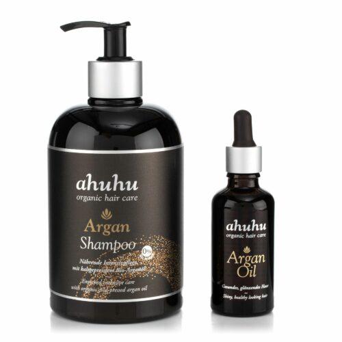 ahuhu organic hair care Argan Shampoo & Arganöl Sondergröße
