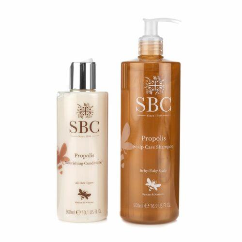 SBC Propolis Haarpflege-Set Shampoo 500ml & Spülung 300ml