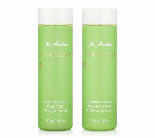 M.ASAM® Vino Gold® Reinigungsmilch & Gesichtswasser je 250ml