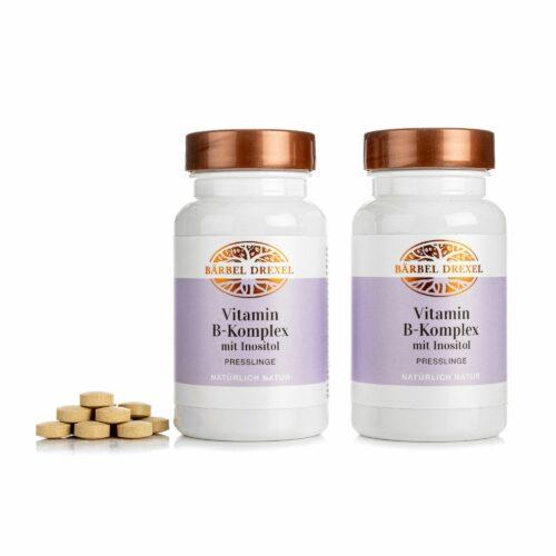 BÄRBEL DREXEL Vitamin B-Komplex Duo mit 8 B-Vitaminen & Inositol je 150 Stück für 150 Tage