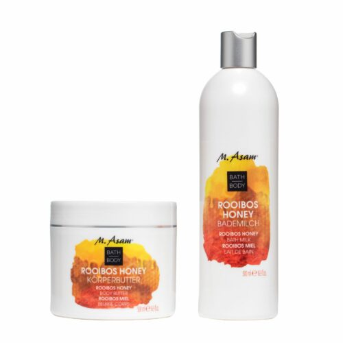 M.ASAM® Rooibos Honey Bademilch Körperbutter jeweils 500ml