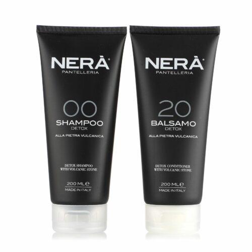 NERÀ Shampoo Detox & Spülung Detox mit Vulkangestein je 200ml