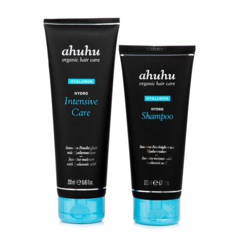 ahuhu organic hair care Hydro Shampoo 200ml & Hydro Intensive Repair 250ml