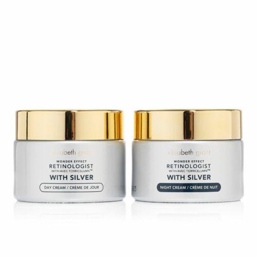 ELIZABETH GRANT Wonder Effect Day- & Night Cream mit Silber 2x 50ml