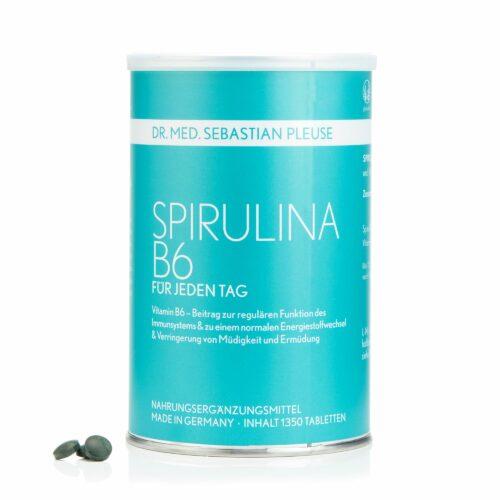 Dr. med. Sebastian Pleuse Spirulina mit B6 1.350 Tabletten für 90 Tage