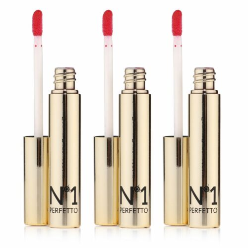 PERFETTO NO 1 Lipgloss-Set mit 24k Gold 3x 9ml