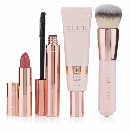 DOLL 10 BEAUTY Make-up-Set Foundation, Pinsel, Mascara & Lippenstift in Geschenkbox
