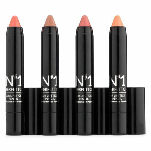 PERFETTO NO 1 Lippen-Set Lip Crayons mit Jojoba-Öl 4x 3g