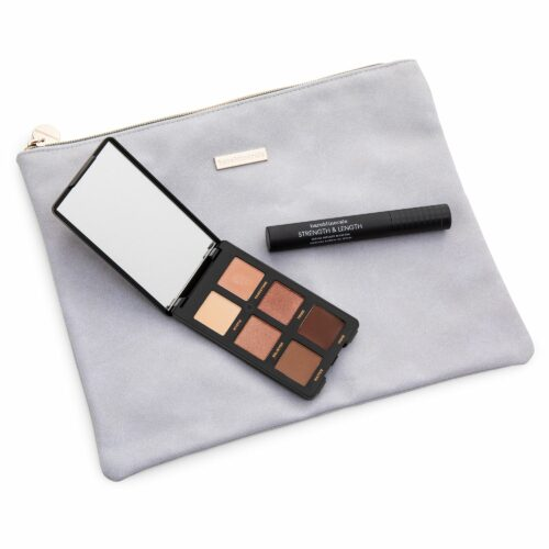 bareMinerals® Augen-Make-up-Set Lidschatten Palette Strength & Length Mascara & Tasche