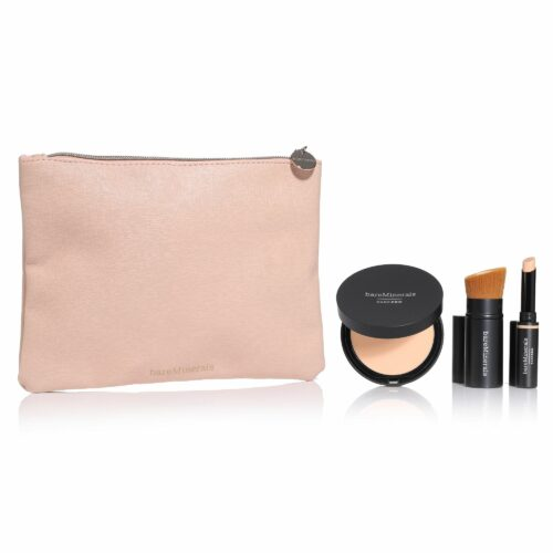bareMinerals® Power Wear Collection Pressed Foundation, Concealer, Pinsel & Kosmetiktasche