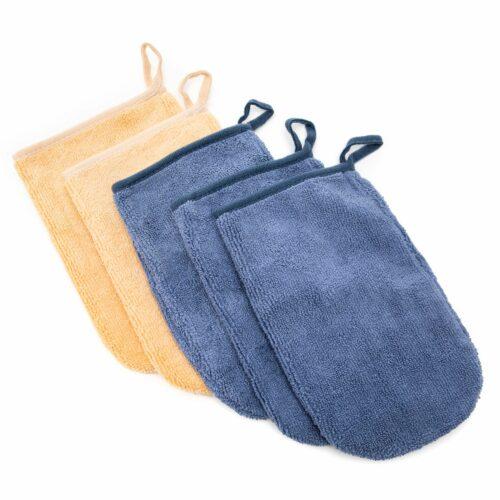 BADIZIO Beauty XL-Handschuhe zur Reinigung Mikrofaser 5tlg.