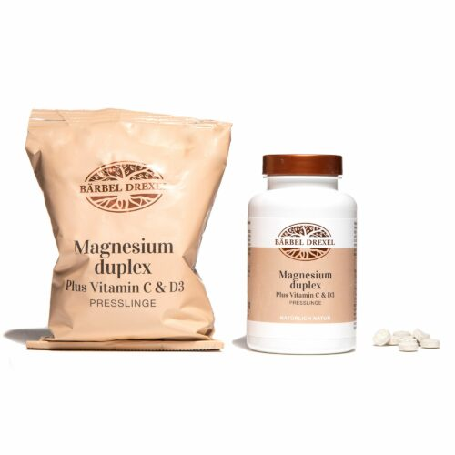BÄRBEL DREXEL Magnesium duplex Plus Vitamin C & D 350 & 550 Presslinge für ca. 7,5 Monate