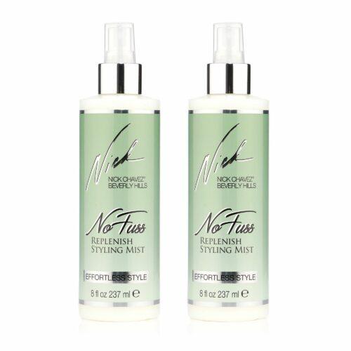 NICK CHAVEZ® No Fuss Styling Spray mit Hitzeschutz gegen Frizz 2x 237ml