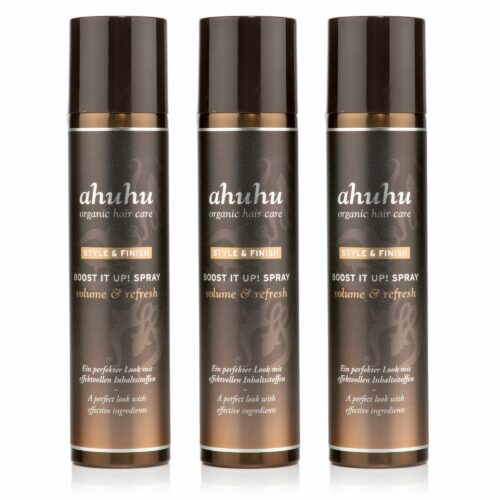 ahuhu organic hair care Style & Finish Boost it up! Trocken- shampoo, 3x 300ml