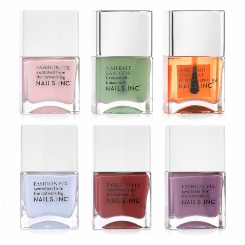 NAILS.INC® Colour & Care Base- & Topcoat mit Trendlacken & Nail Pure 6x 14ml