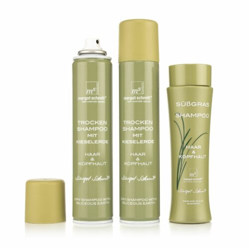 MARGOT SCHMITT® Sensitiv Süßgras Shampoo 200ml Trockenshampoo 2x 200ml