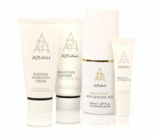 ALPHA-H Liquid Gold 50ml Essential Cream 30ml Cleanser 30ml Lip Perfector 3ml