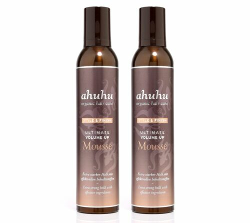 ahuhu organic hair care Ultimate Volume up Mousse 2x 300ml