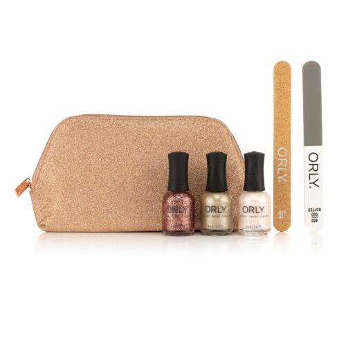 ORLY® Nagel-Set Farblacke 3x 18ml grobe & feine Nagelfeile & Tasche