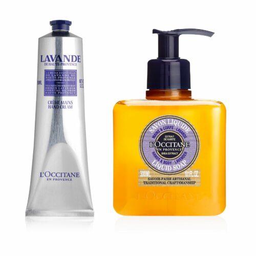 L'OCCITANE Lavendel Handpflege-Essentials Handcreme 150ml & Flüssigseife 300ml