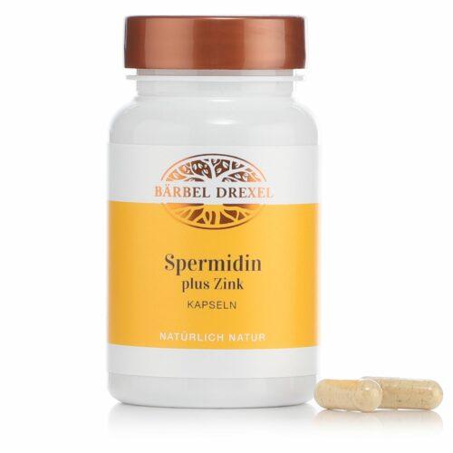 BÄRBEL DREXEL Kapseln mit Spermidin aus Weizenkeimextrakt und Zink 60 Stück für 30 Tage