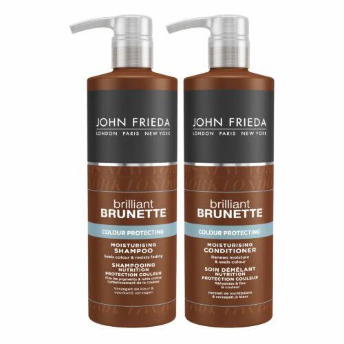 JOHN FRIEDA Brilliant Brunette Color Shampoo 500ml Conditioner 500ml Sondergrößen