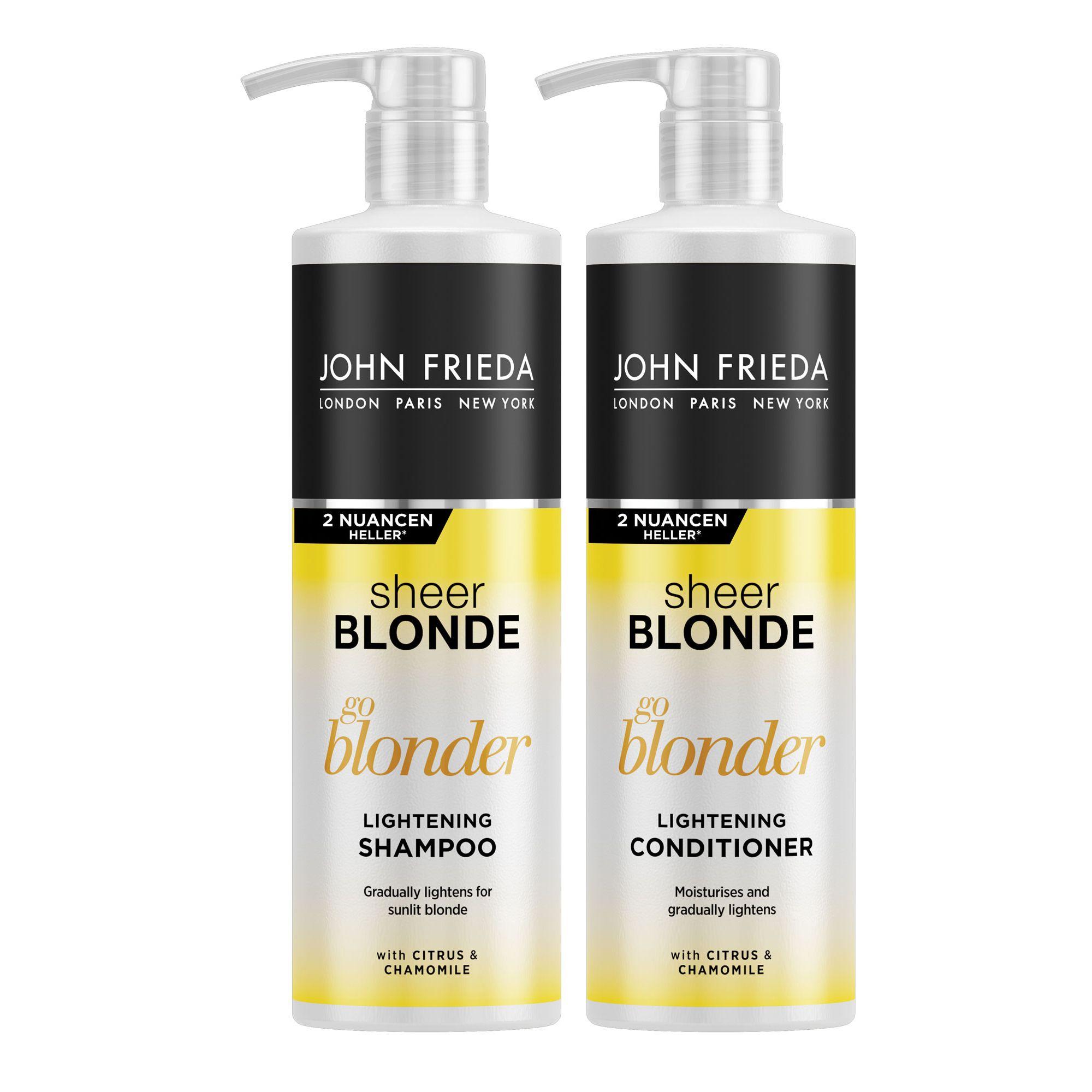 JOHN FRIEDA Go Blonder Shampoo 500ml Conditioner 500ml Sondergrößen