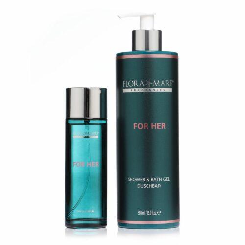 FLORA MARE™ Fragrances For Her Eau de Parfum 100ml & Duschbad 500ml