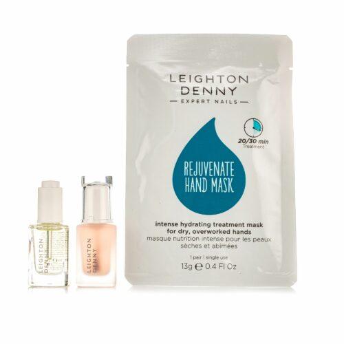 LEIGHTON DENNY Nagelpflege-Set Nagelhärter 12ml, Maniküre Öl 12ml & Handmaske