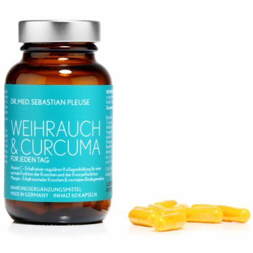 Dr. med. Sebastian Pleuse Weihrauch & Curcuma mit MSM, 60 Kapseln für 30 Tage