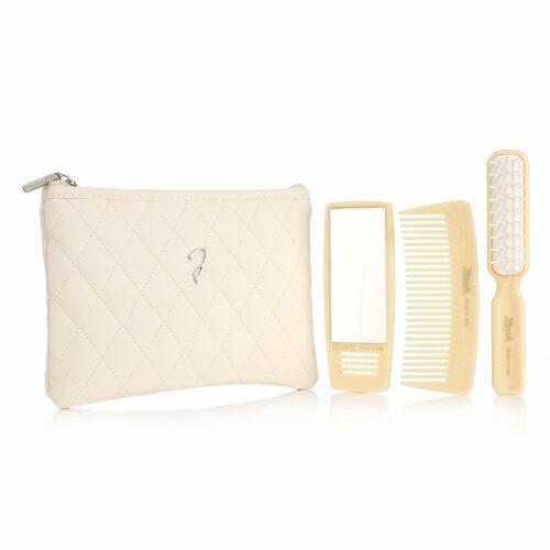 GIORGIO JÄNEKE Haarbürste & Kamm mit Kosmetiktasche & Taschenspiegel